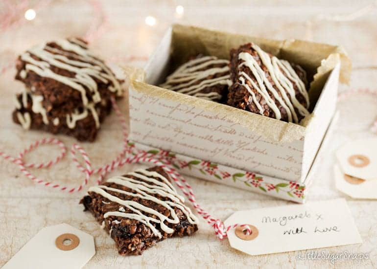 Chocolate Flapjack in a gift box