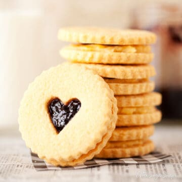 Custard Creams Biscuits with a jam centre