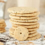 A stack of Chai Shortbread Cookies