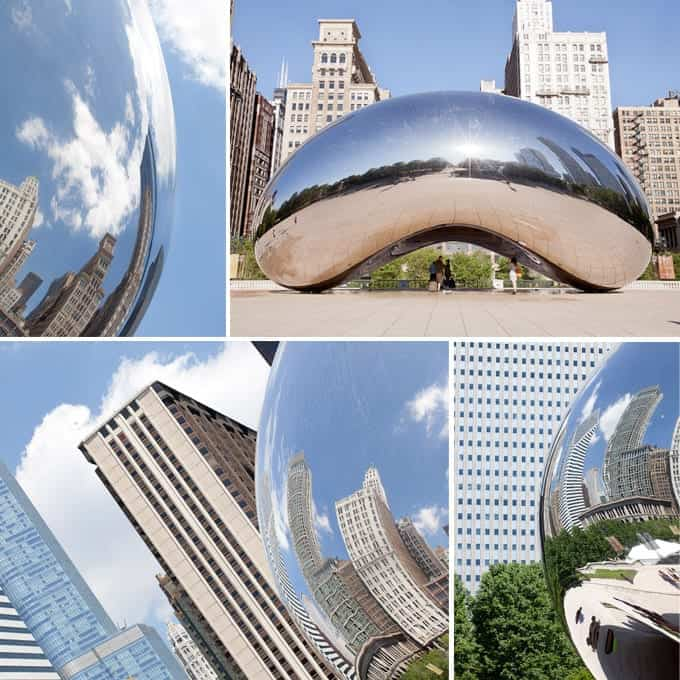 Collage of The Bean in Chicago