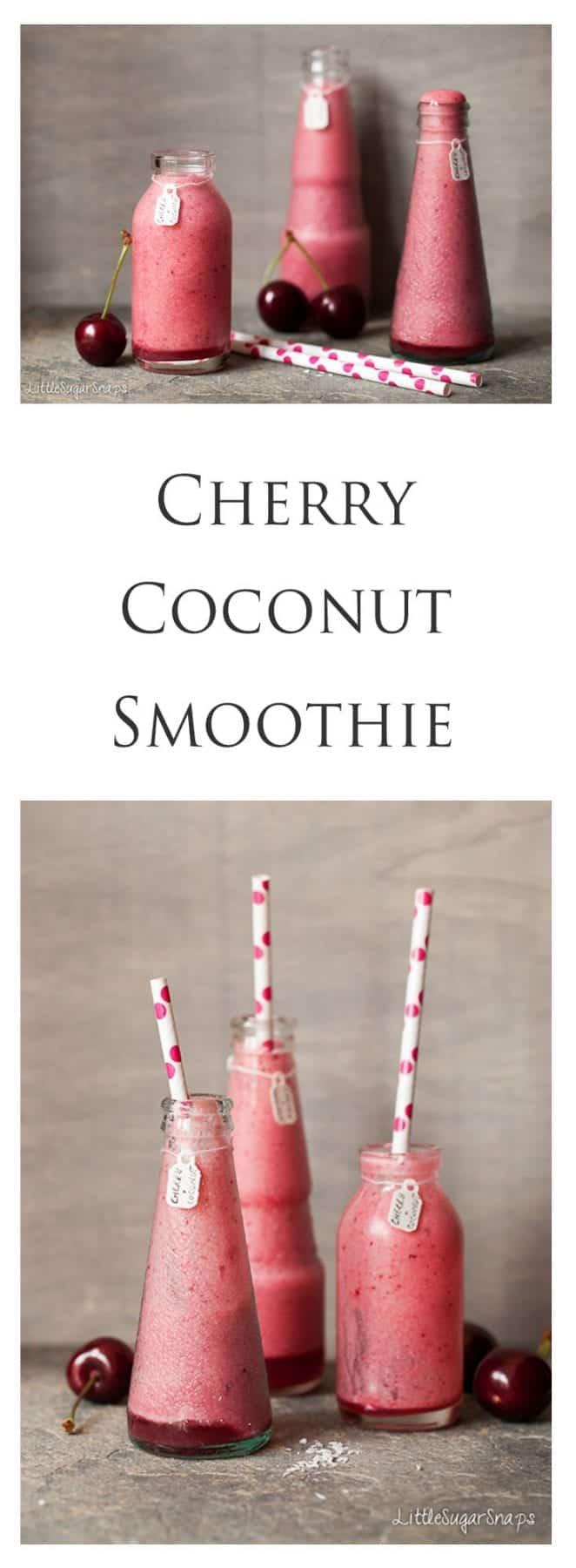 Cherry Coconut Smoothie - Littlesugarsnaps