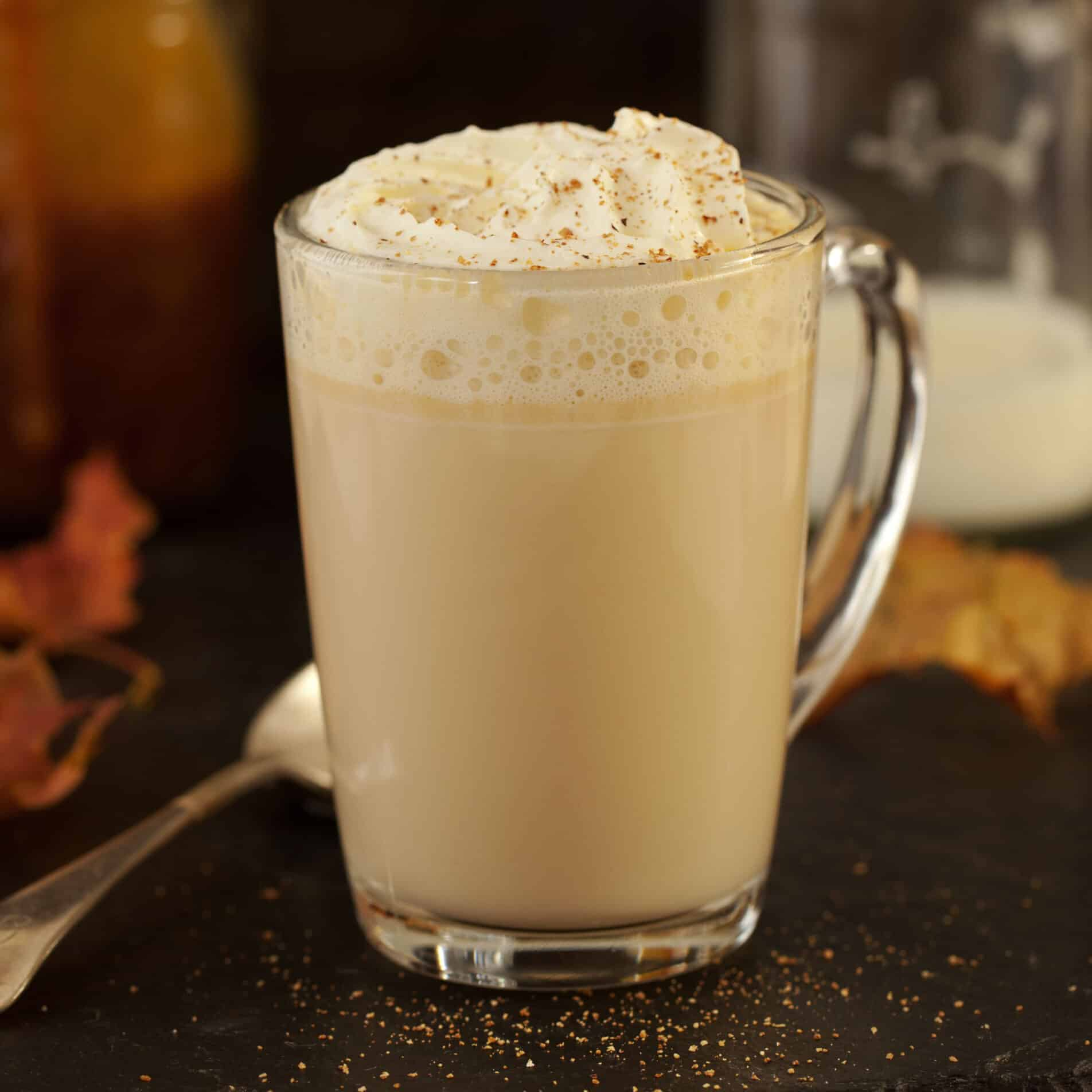 Hot CAramel Milk with Bourbon and Whipped Cream