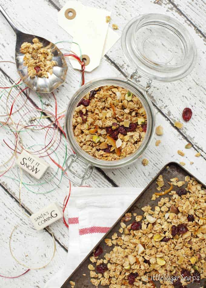 Marmalade Ginger and Cranberry Granola