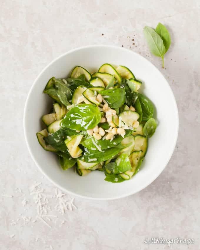 Zucchini Basil Salad