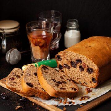 Cinnamon Cherry Tea Bread