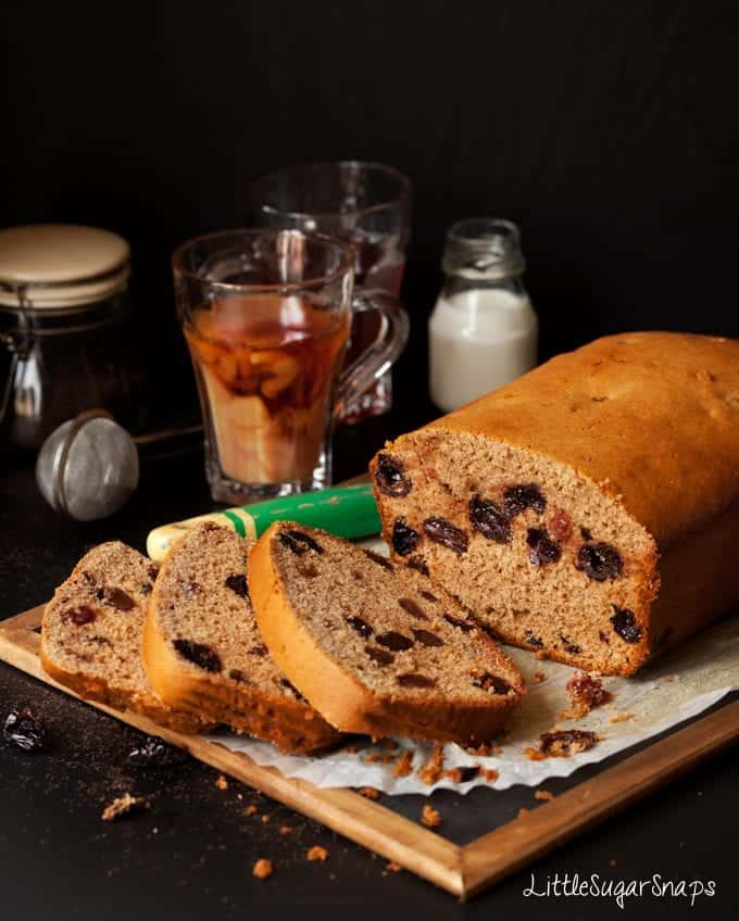 Cinnamon Cherry Tea Bread