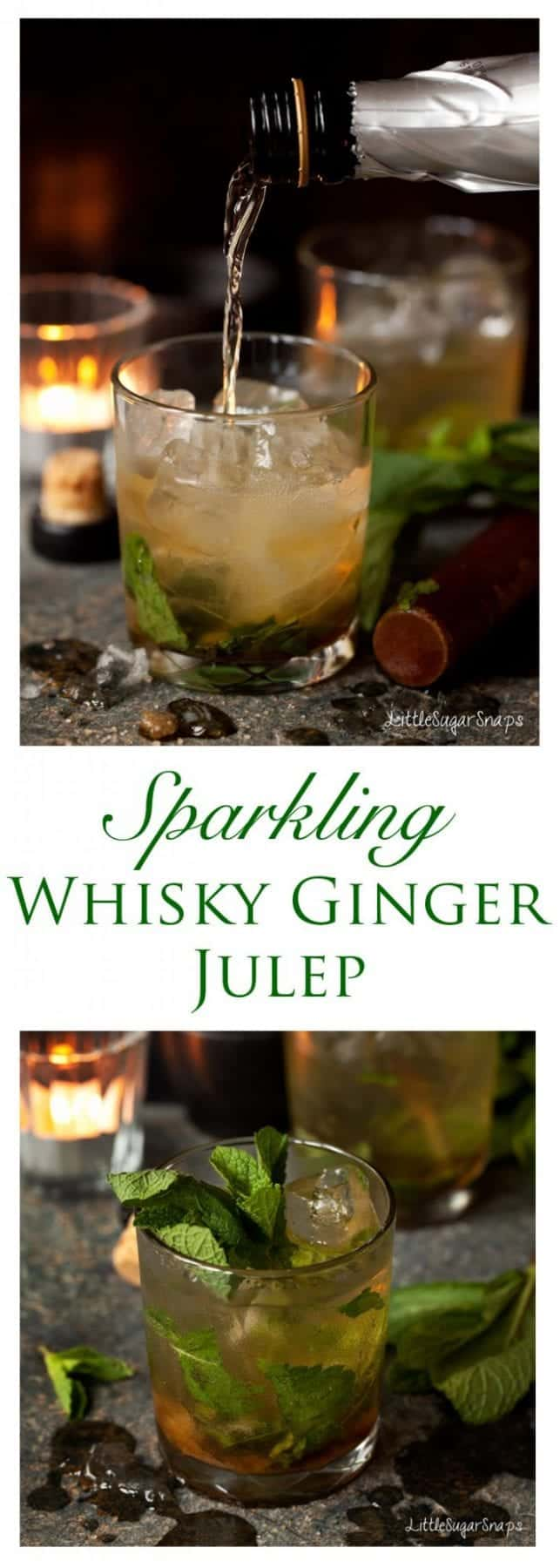 The Whisky Ginger Julep is a fascinating blend of whisky, ginger liqueur, mint and Prosecco. A cunning spin off from the classic Julep. Give your taste buds something to natter about.