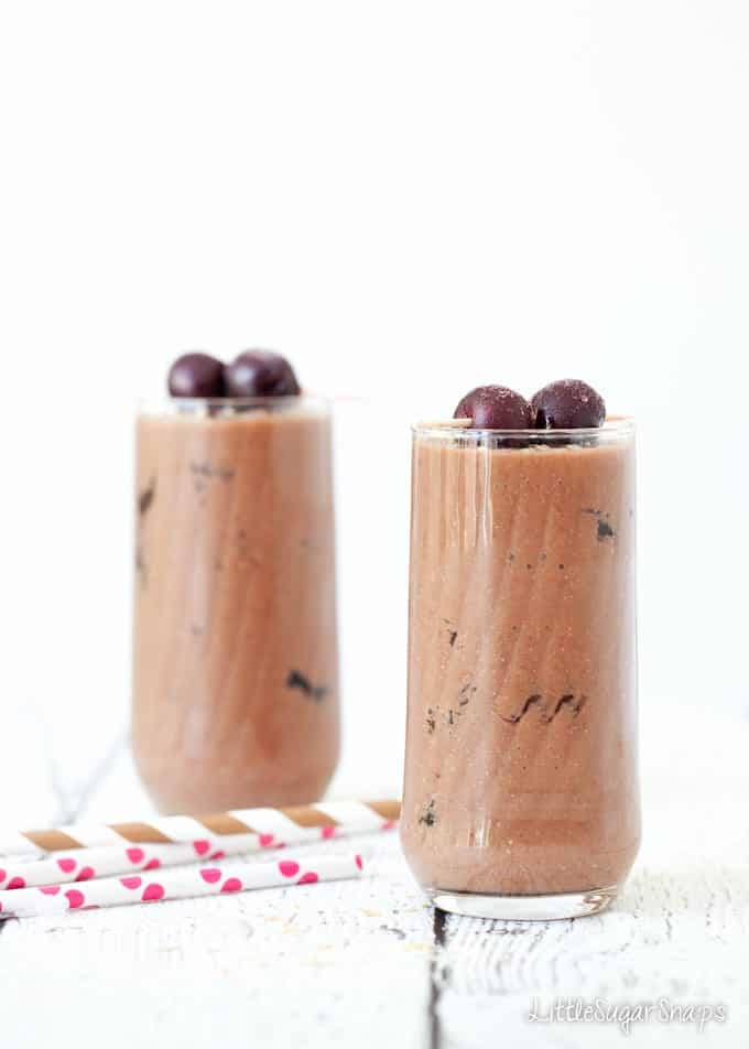 Skinny Chocolate Cherry Coconut Shake