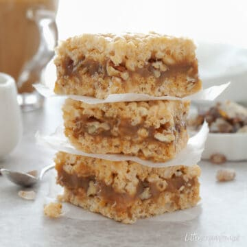 Salted Caramel Rice Krispie Treat