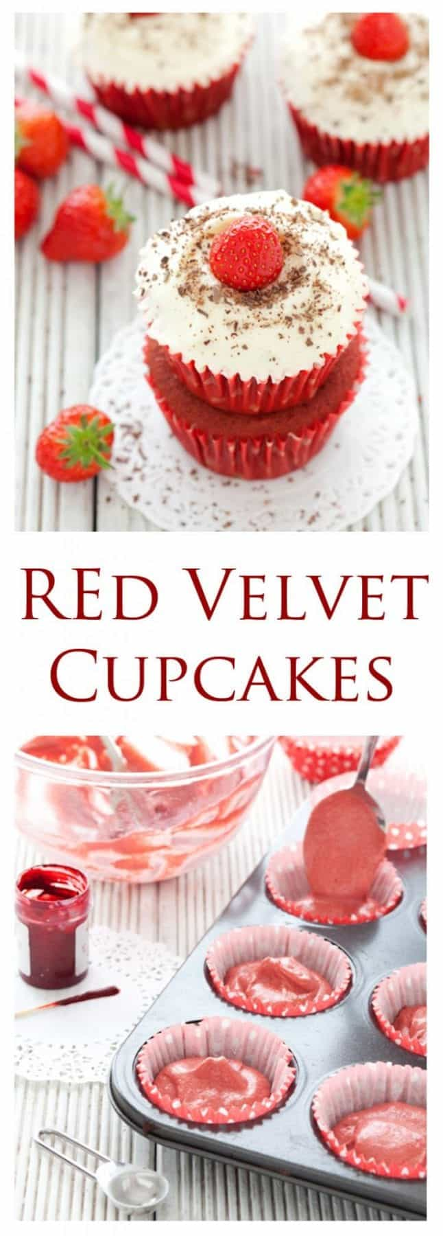 Flirtatious & fun. Red Velvet Cupcakes are wonderful eye candy and a joy to bite into. Hints of chocolate, vanilla & buttermilk crowned with thick cream cheese buttercream make these little treats irresistible.