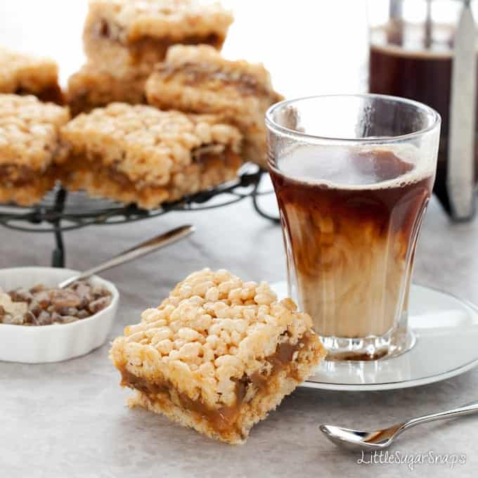 Salted Caramel Pecan Krispie Treat