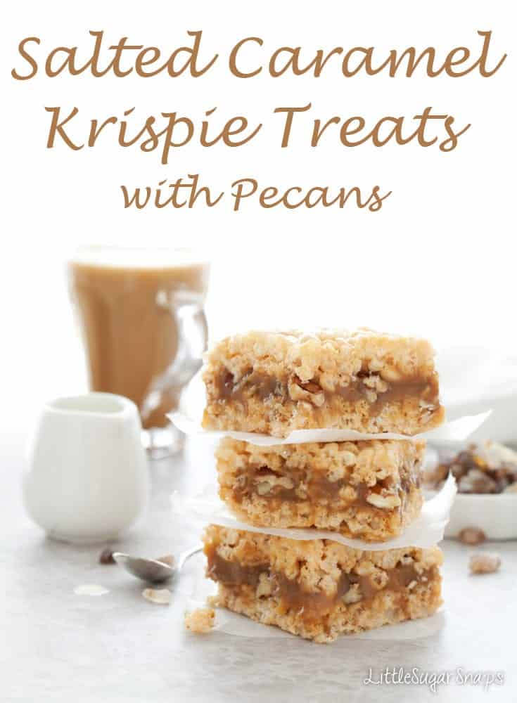 Salted Caramel Krispie Treats #krispietreats #saltedcaramel #caramelkrispietreats #saltedcaramelkrispietreats
