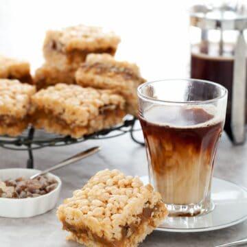 Salted Caramel Pecan Krispie Treat