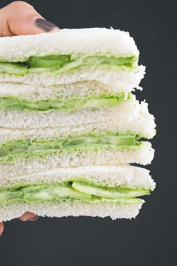 Tea Time Spiced Cucumber Sandwich