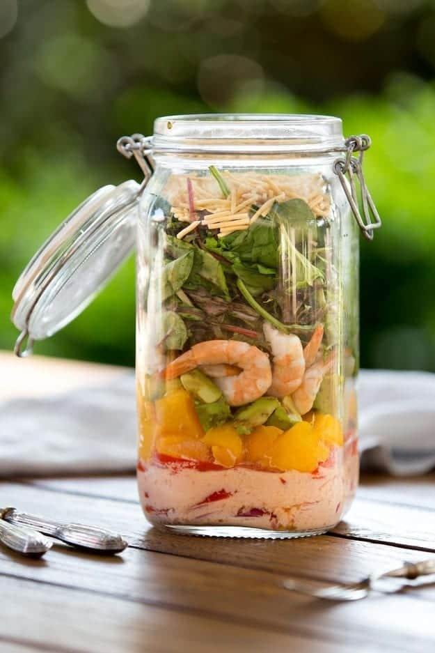 Prawn Mango Salad in a Jar