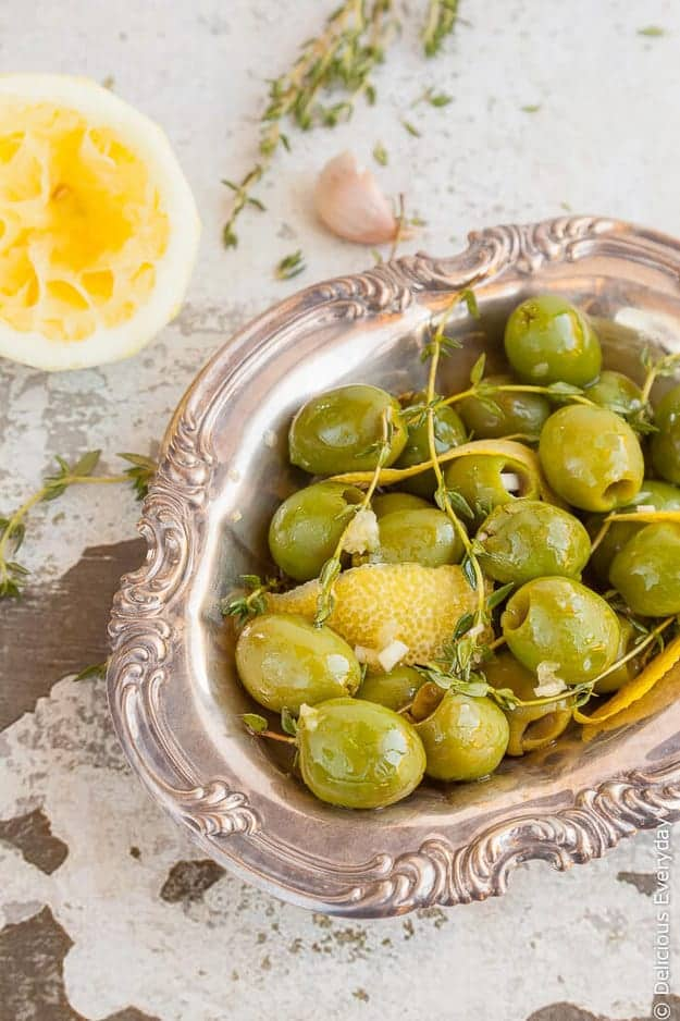 Lemon & Thyme Marinated Olives