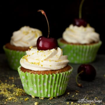 Pistachio Cupcakes with Mascarpone Frosting