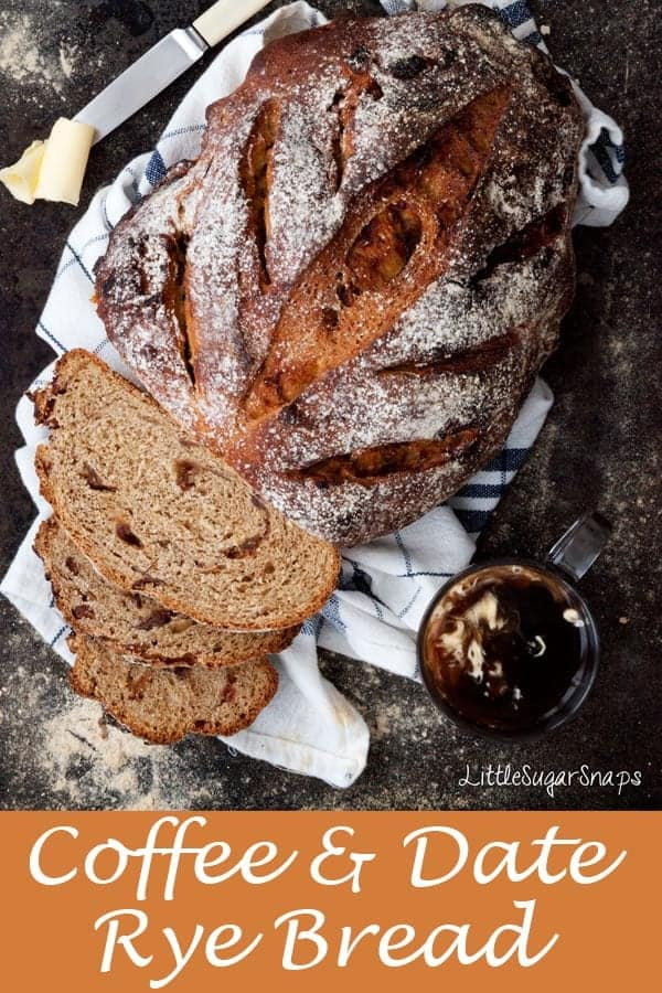 Coffee Date Rye Bread #ryebread #datebread #coffeebread #coffeedate #rye #homemadebread #sweetbread