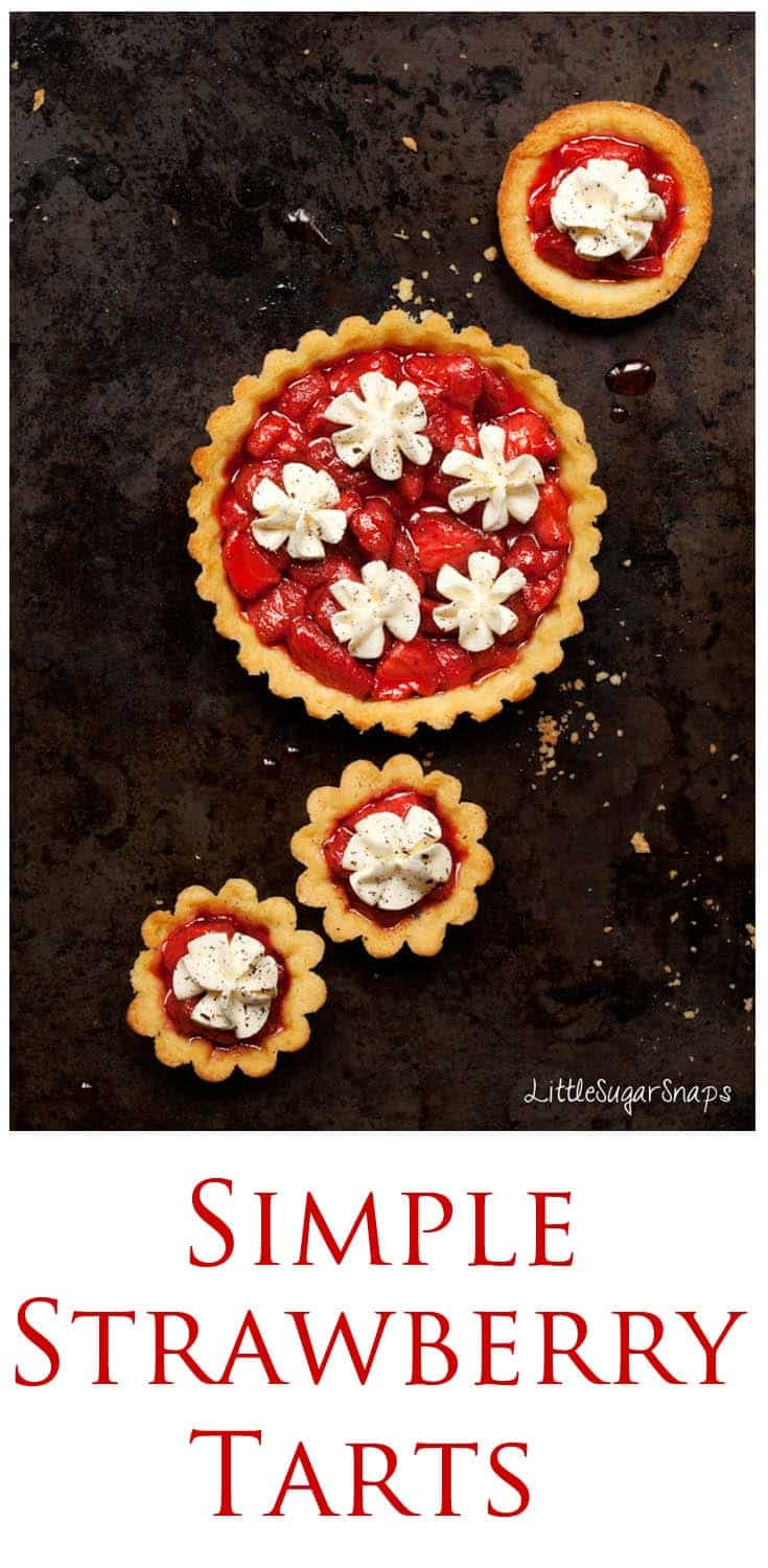 Simple. Summery. Colourful. These Strawberry Tarts are perfect for when you want something fancy to serve but don't want to be faffing around in the kitchen when guests are waiting.
