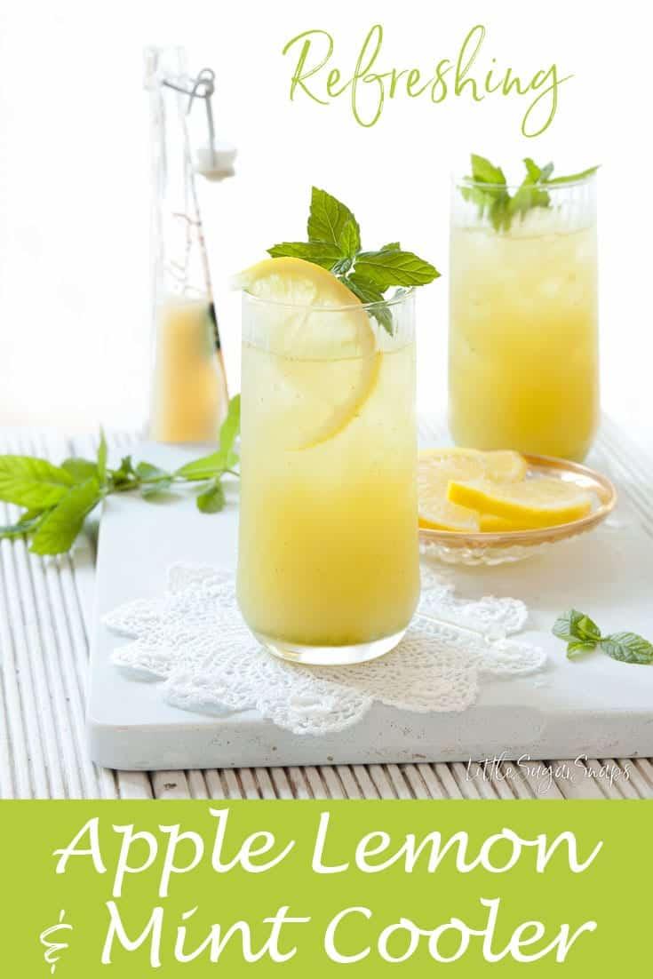 Apple Lemon Mint Cooler #fruitcooler #applecooler #applemint #juice