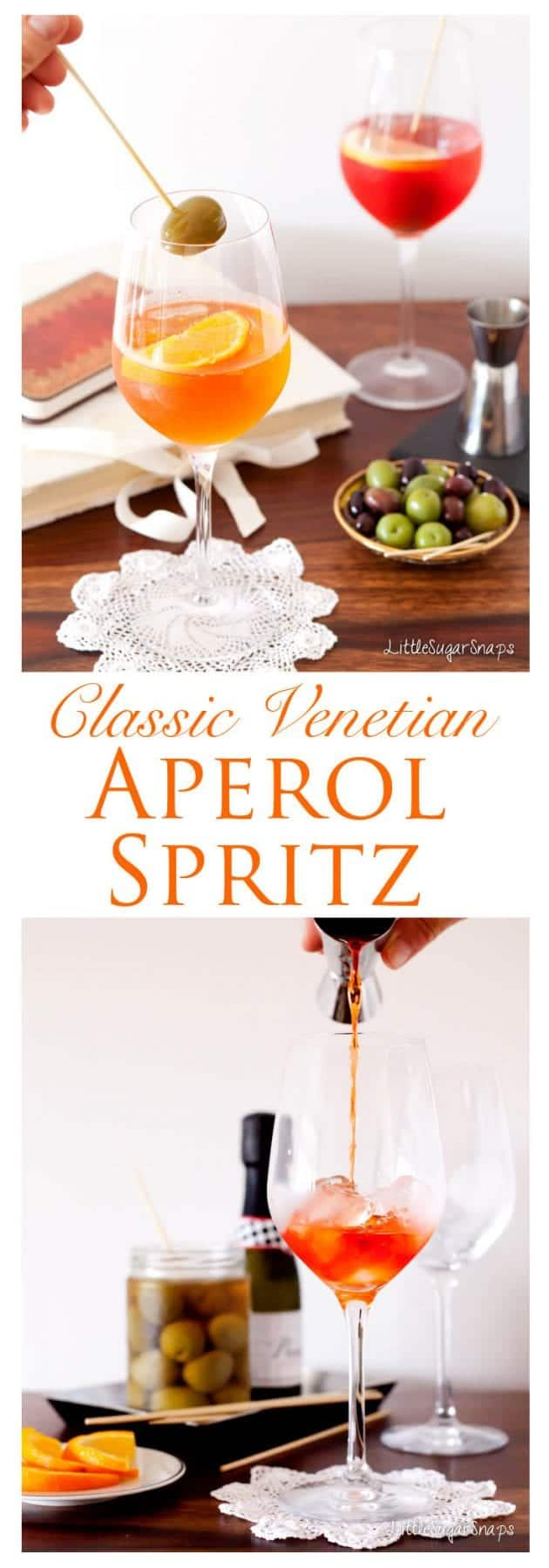 Wonderfully refreshing on a hot summers day, the Aperol Spritz is a Venetian classic. Serve over ice with a slice of orange and an olive.