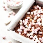 Rocky Road Chocolate Krispie Treats