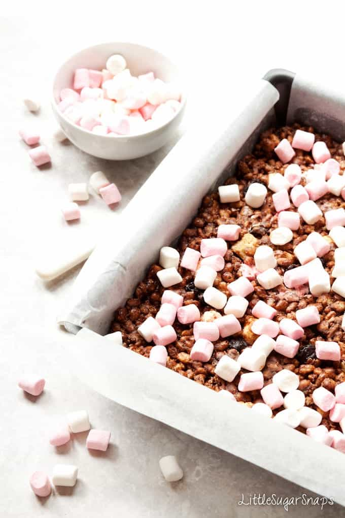 Rocky Road Chocolate Krispie Treats