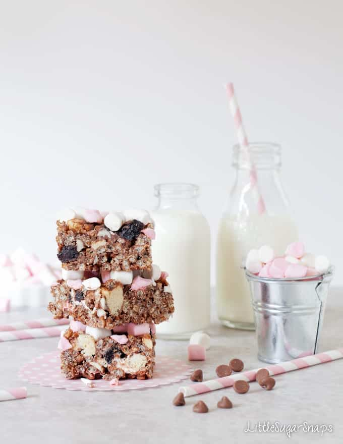 Rocky Road Rice Krispie Treats