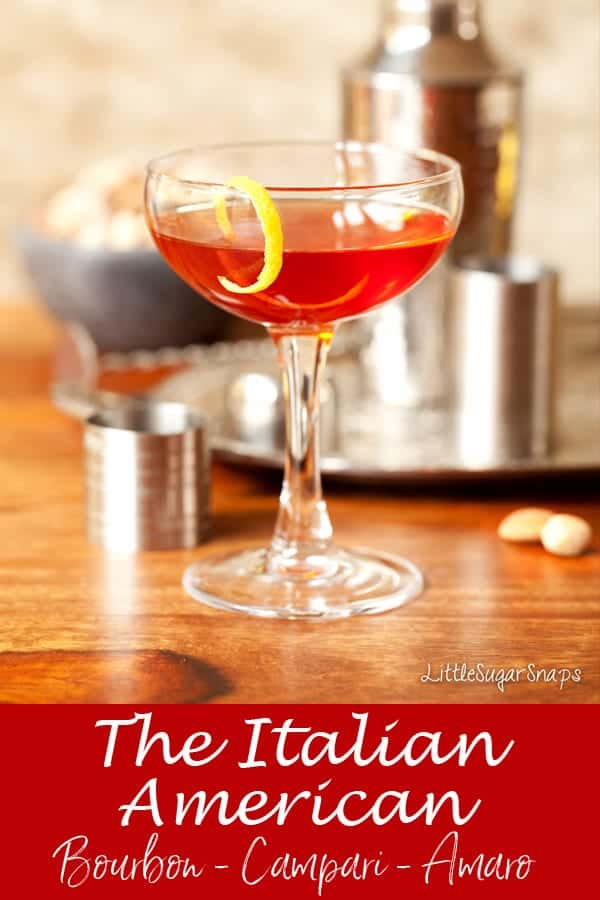 The Italian American Cocktail #bourboncampari #camparicocktail #amarococktail #bourboncocktail #amaro #campari #italianamerican