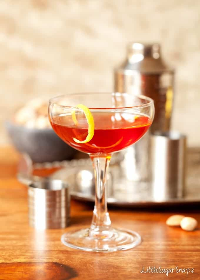Bourbon, Campari & Amaro Cocktail