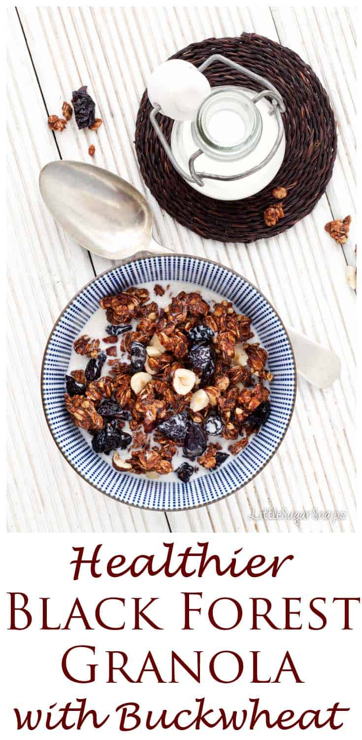 This Black Forest Granola tastes so chocolately and indulgent that it's hard to believe it's actually healthy.