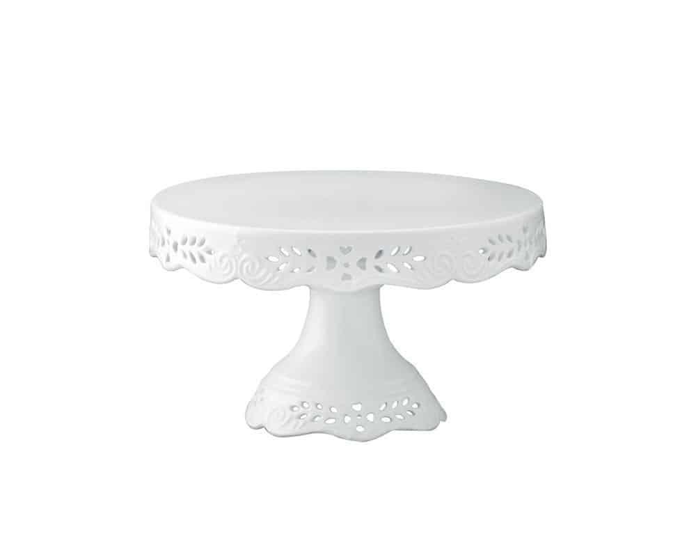 A pretty white cake stand
