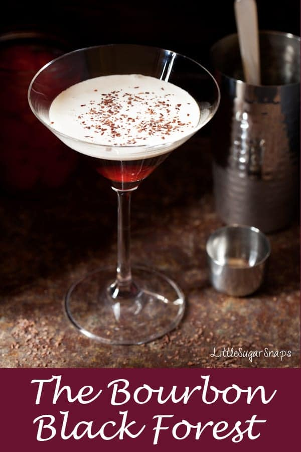 Bourbon Black Forest Cocktail #blackforestcocktail #blackforestmartini #bourboncocktail #bourbonblackforest #blackforestrecipe #cherrychocolatecocktail