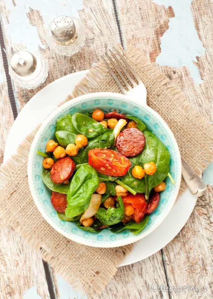 Spiced Roasted Chickpea Salad