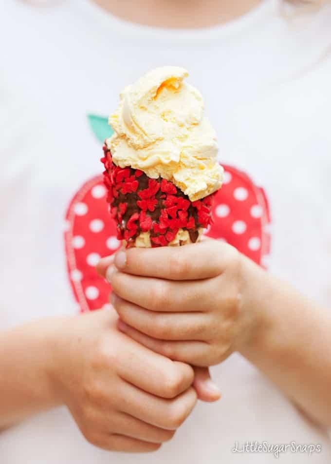 Chocolate Dipped Ice Cream Cones
