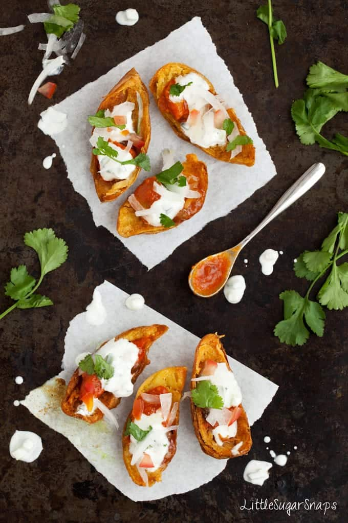 Poppadom Potato Skins