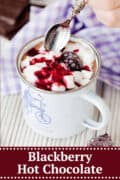 Blackberry Hot Chocolate - pinterest image
