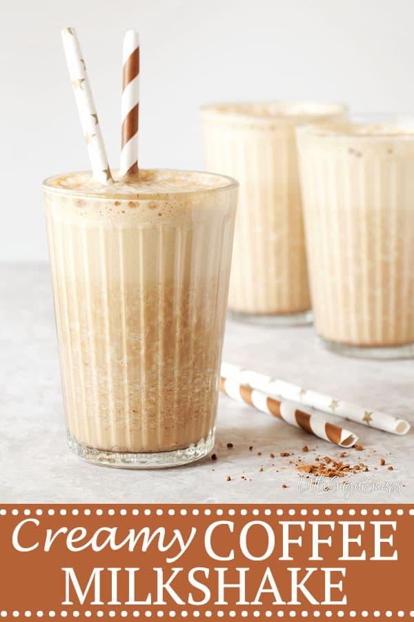 Coffee Milkshake - pinterest image
