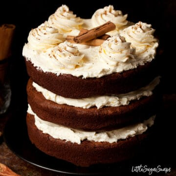 Cinnamon Chocolate Cake with Honey Buttercream