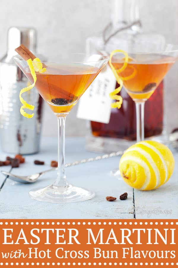 Easter martini with the flavours of hot cross bun