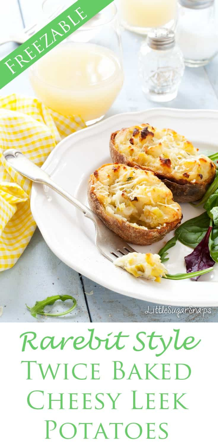 These Rarebit Style Cheesy Leek Baked Potatoes are ultimate comfort food. They are easy to make, full of punchy flavours and freezable.