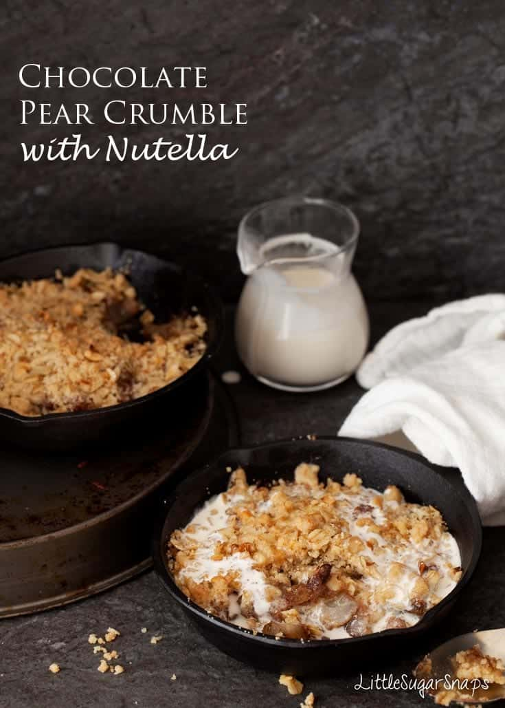 Chocolate Pear Crisp