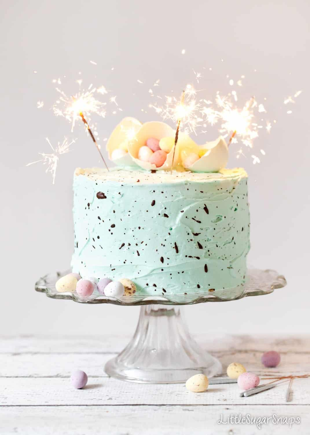 Speckle Cake - White Chocolate Peppermint Layer Cake