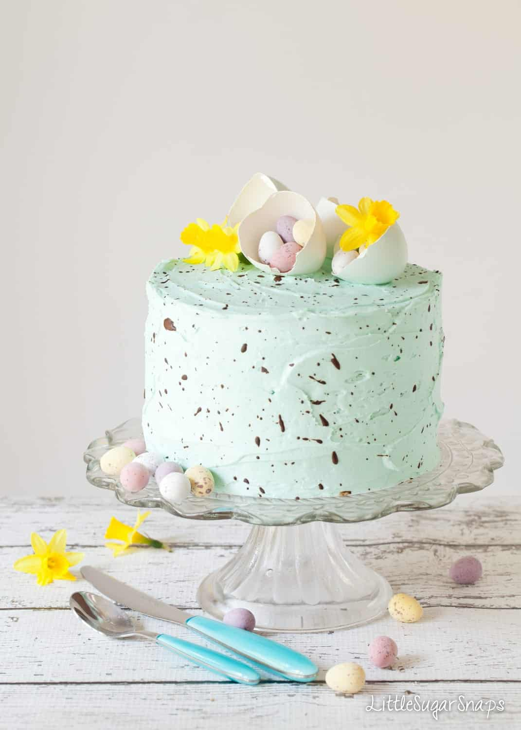 Speckled Cake - White Chocolate Peppermint Cake