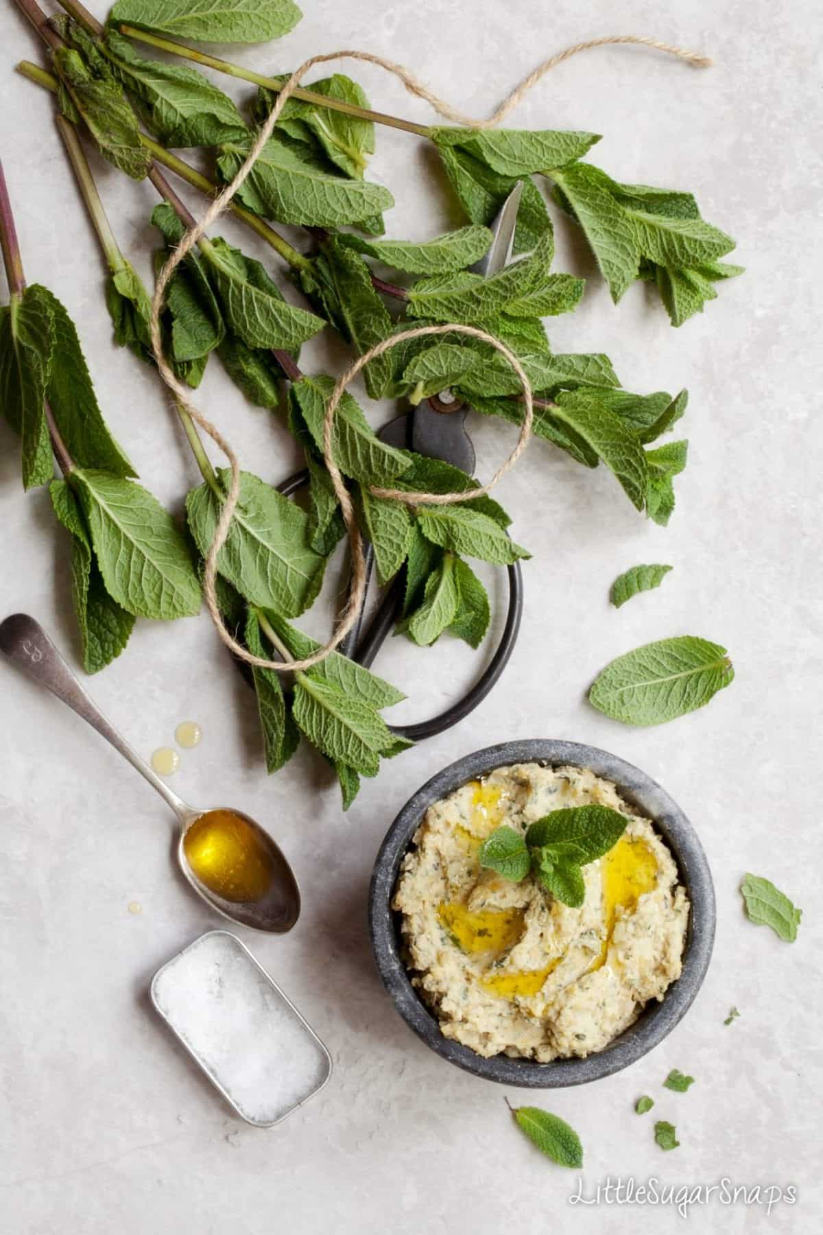 Preserved Lemon & Mint Hummus