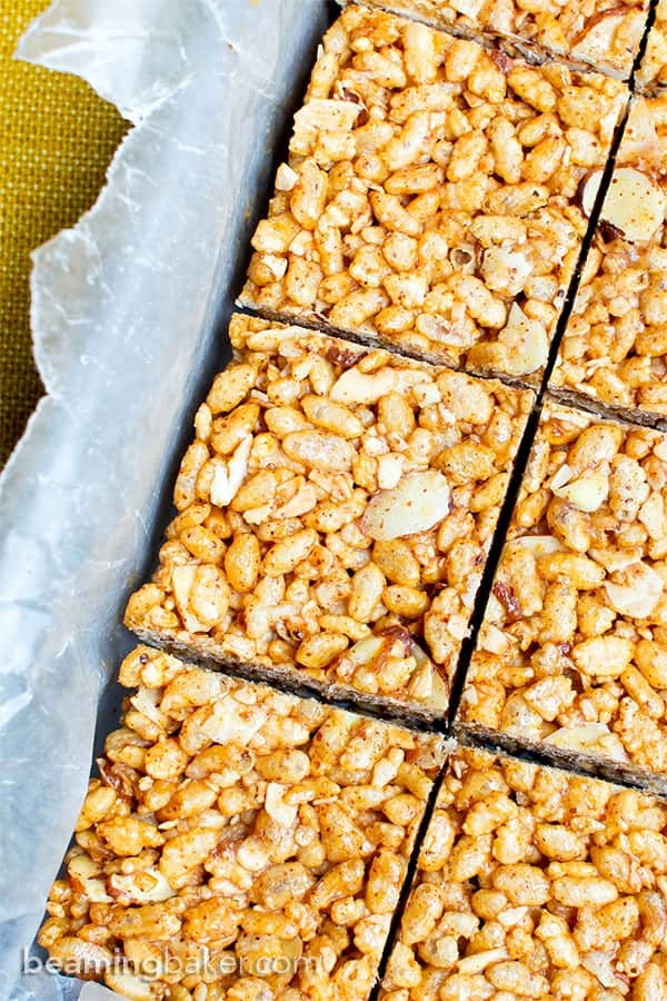 Coconut and almond rice krispie treats
