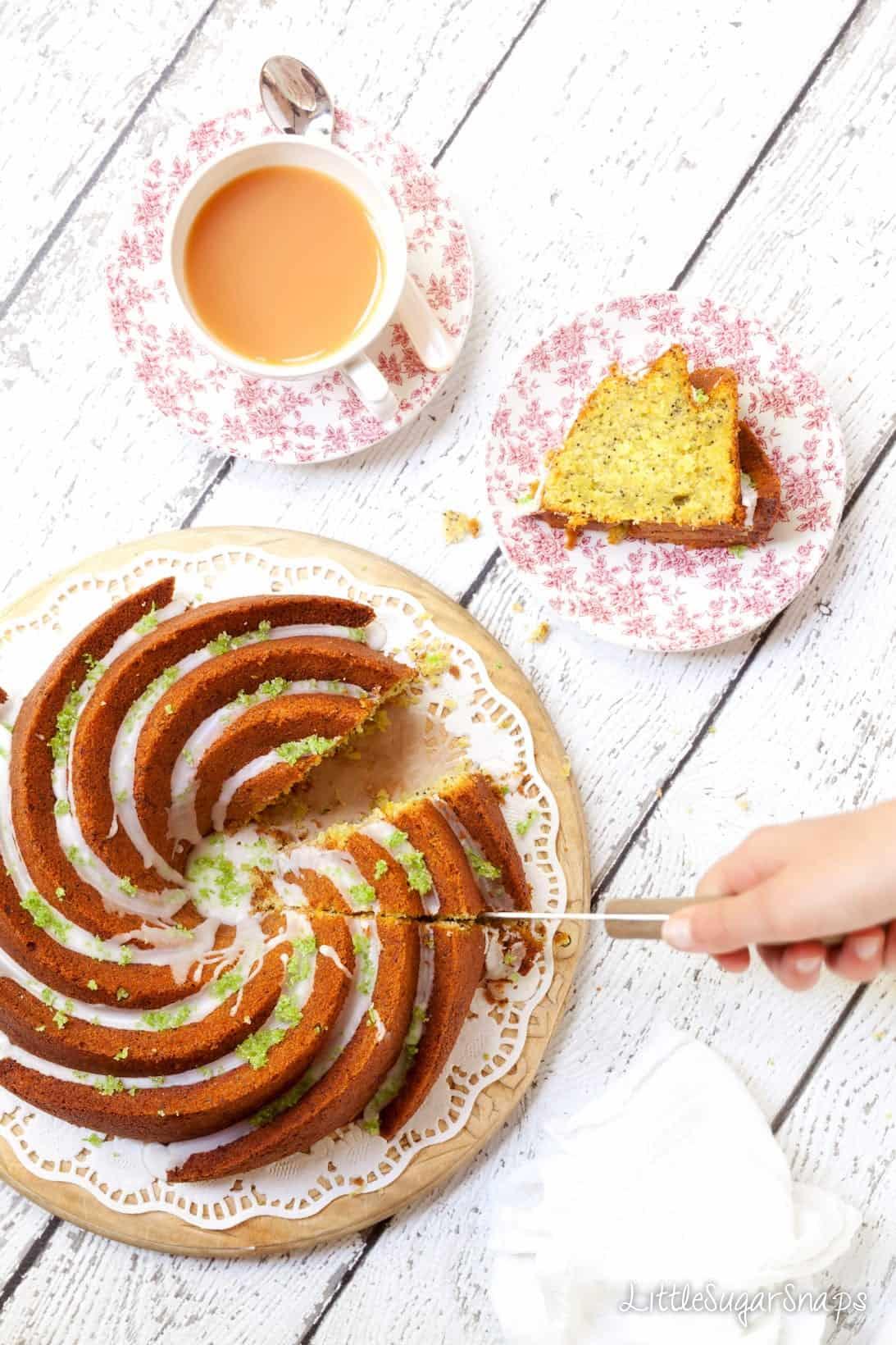 Zucchini Lime Pistachio Cake