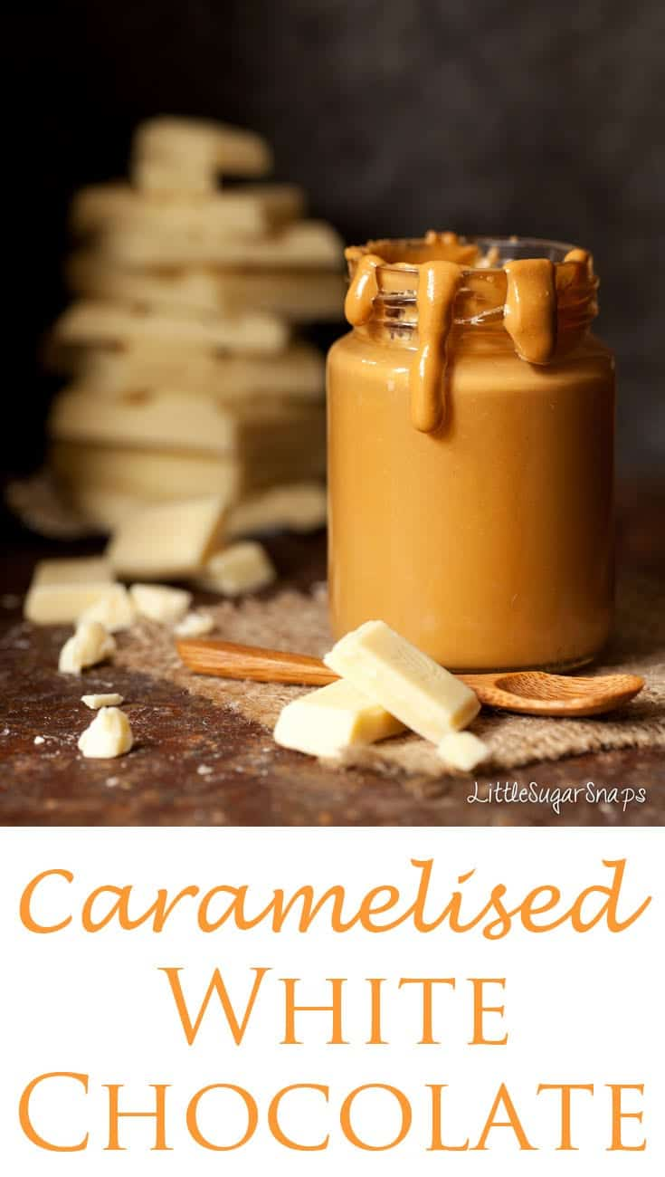 Caramelised White Chocolate - mellow, toasty, butterscotch flavours. Golden magic.