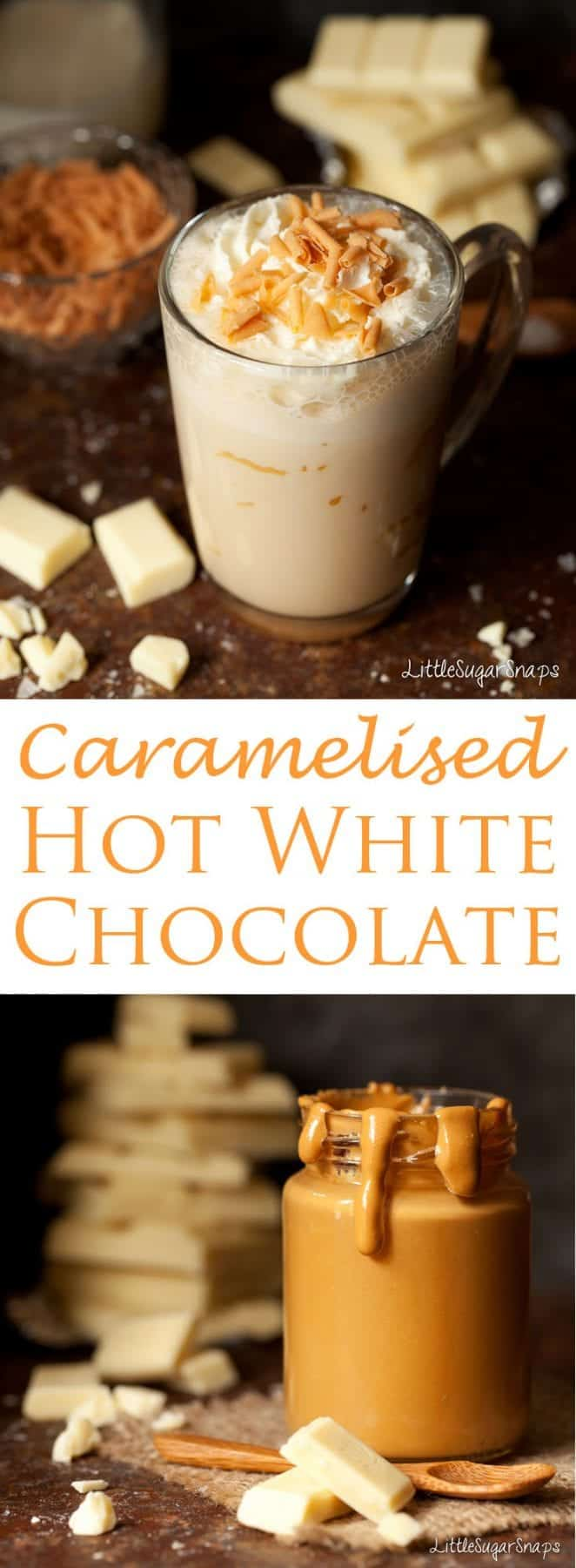 If you're craving a new addition to your hot chocolate repertoire, give hot chocolate made with Caramelised White Chocolate a whirl. It manages to combine, toasty, nutty butterscotch flavours with a mellow sweetness that is sure to please. Pure magic.
