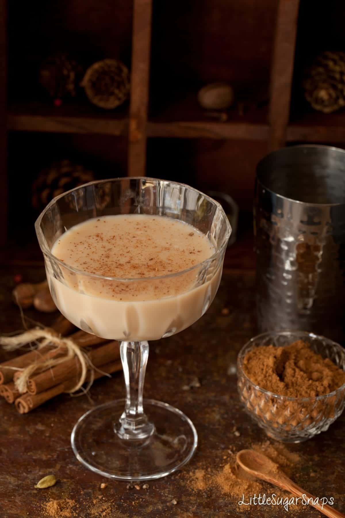 The milky drink can be enjoyed warm, as it is, but, when cooled and muddled with vanilla vodka it is transformed into a gently spiced, smooth and slightly sweet cocktail.